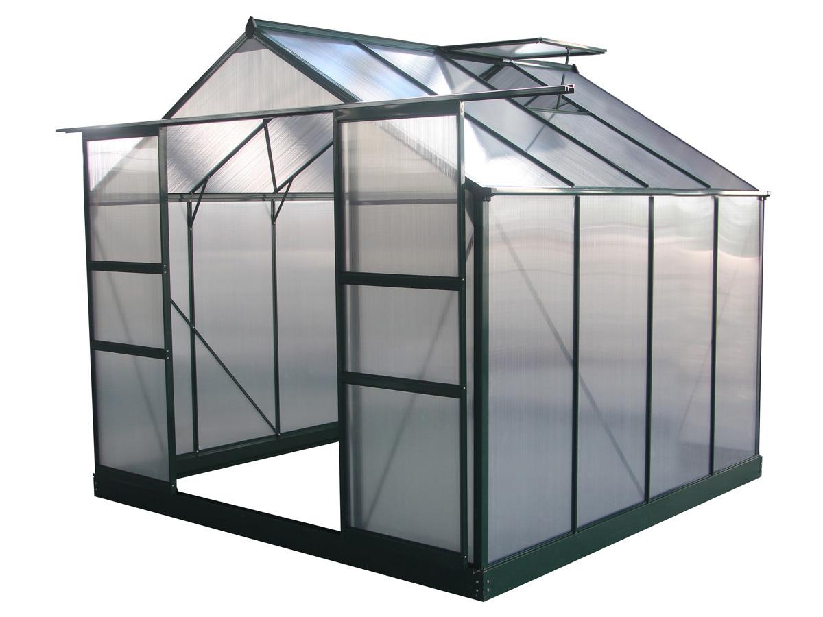 Serre jardin polycarbonate Dahlia Vert Sapin 6,15 m²