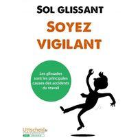 Editions Uttscheid - Affichage prévention - Sol glissant