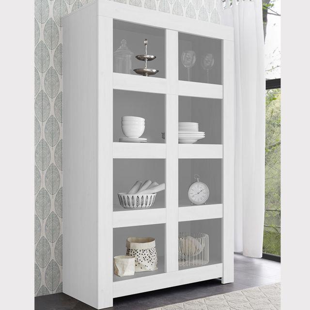 Kasalinea Bibliothèque 110 cm design blanc laqué Agathe