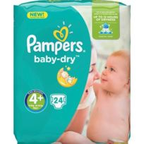 Pampers - Baby-Dry Taille 4+ 9-18 kg x24 couches