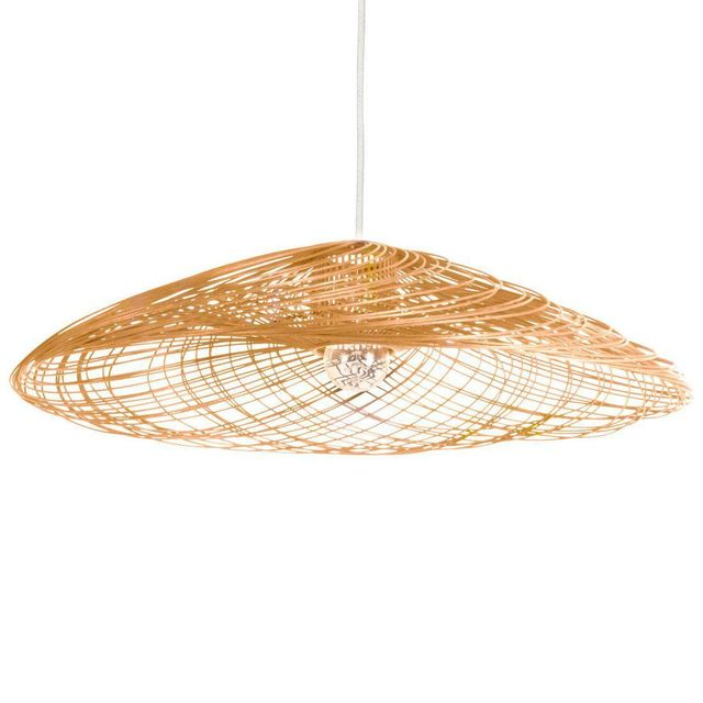 Forestier - Satelise - Suspension Rotin Naturel Ø110cm
