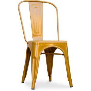 privatefloor chaise tolix xavier pauchard style m tal dor pas cher achat vente chaises. Black Bedroom Furniture Sets. Home Design Ideas