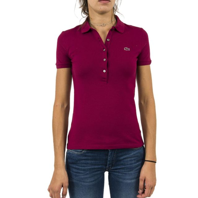41c1512eca Lacoste - Polos pf7845 rouge - pas cher Achat / Vente Polo femme -  RueDuCommerce