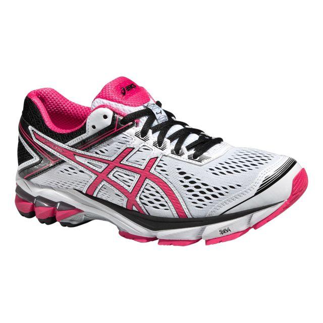 Asics Gel Gt 1000 4 Blanche Et Rose Chaussures de running