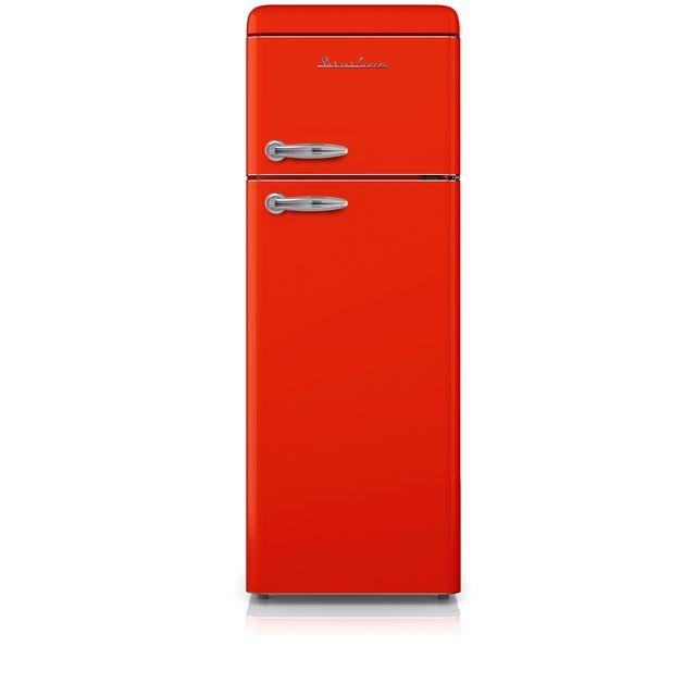 Schaub Lorenz - Réfrigérateur 2 portes Rouge 208L - SL 208 DDR