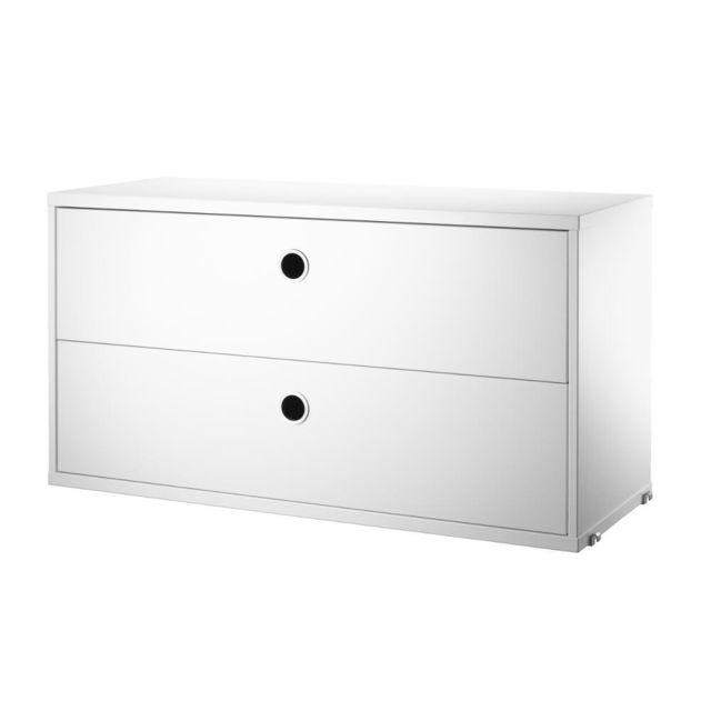 String Caisson à tiroirs - blanc - 78 x 42 x 30 cm