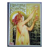 Universel - Plaque absinthe robette tole deco bar boisson anis affiche