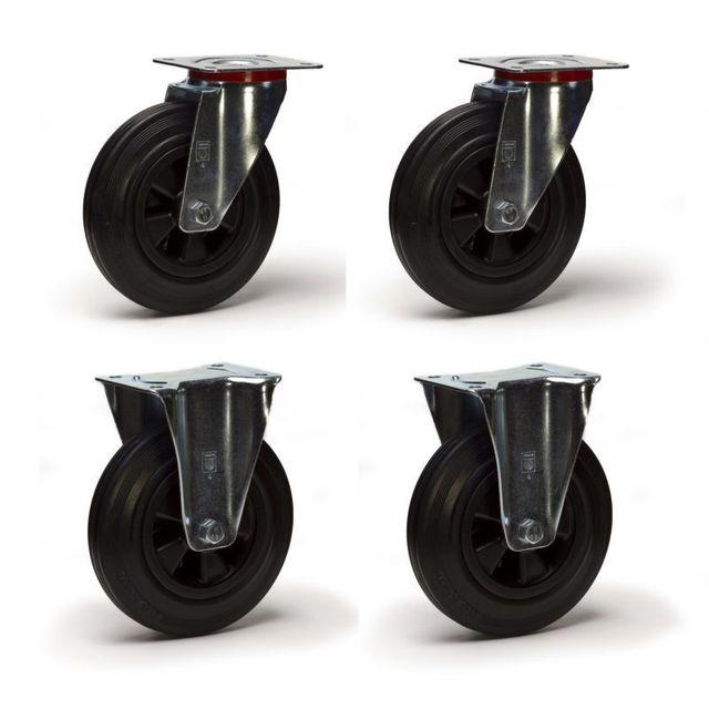 roues et roulettes com lot de quatre roulettes pivotantes et fi pas cher achat vente. Black Bedroom Furniture Sets. Home Design Ideas