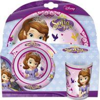 JoyToy - Disney Princess - Princesse Sofia - MÉLAMINE De Vaisselle Petit DÉJEUNER ASSIETTE, Bol, Tasse