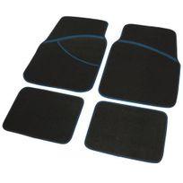 Ergoseat - 4 Tapis de sol pour voiture, broderie chinée bleu noir 183067