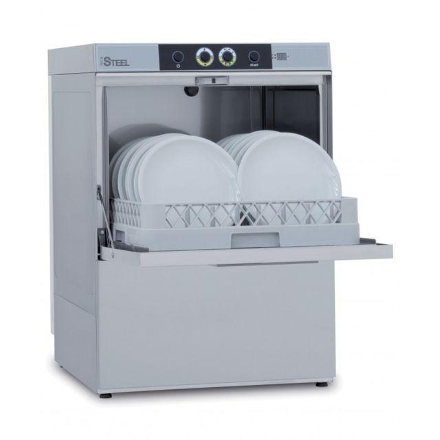 Colged Lave-vaisselle professionnel avec pompe de vidange - 6,8 kW - Triphasé Steel361DGPV 400V triphase
