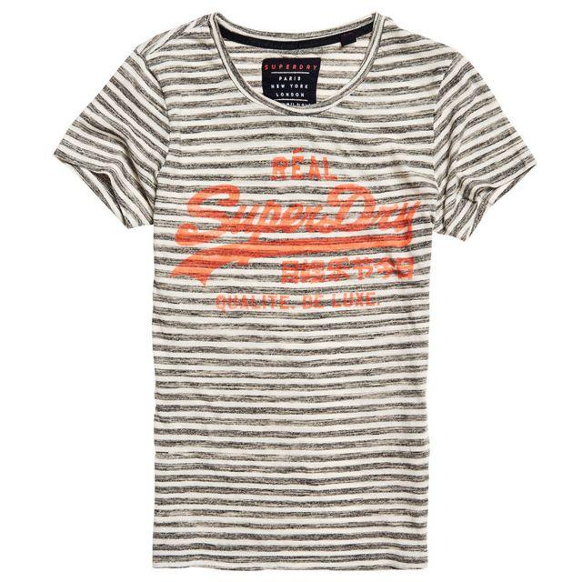 SUPERDRY Vintage Logo T Shirt Mc Femme – achat et prix pas