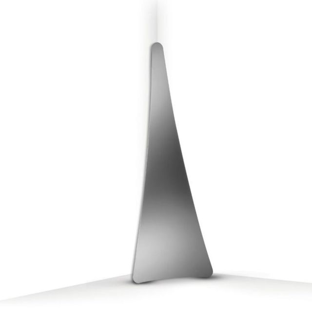 Slamp Punctum-lampe de sol Led Miroir H117cm Argenté - designé par Nigel Coates