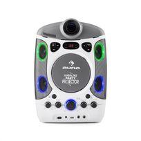 Kara Projectura Dazzl Set karaoké lecteur CD CD-G USB MP3 + 2 micros - blan