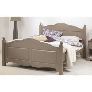 beaux meubles pas chers lit taupe 2 places 140x190 sommier matelas marron 140cm x 140cm. Black Bedroom Furniture Sets. Home Design Ideas