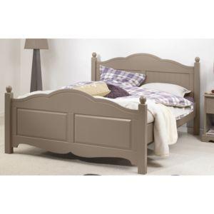 beaux meubles pas chers lit taupe 2 places 140x190 sommier matelas marron 140cm x 140cm. Black Bedroom Furniture Sets. Home Design Ideas