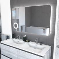 Miroir salle de bain Led auto-éclairant 120x70cm - Atmosphere Plus 120