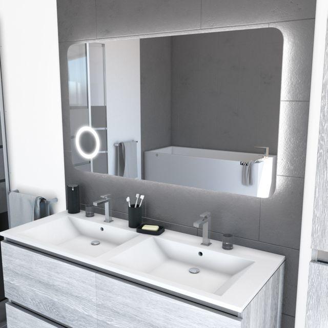 Aurlane - Miroir salle de bain Led auto-éclairant 120x70cm ...