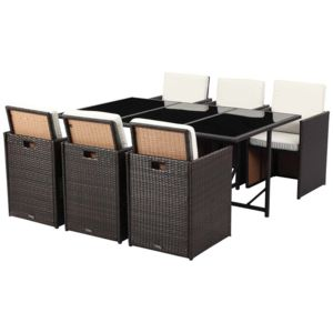 habitat et jardin salon de jardin r sine tress e chicago 6 buffalo marron nc pas cher. Black Bedroom Furniture Sets. Home Design Ideas