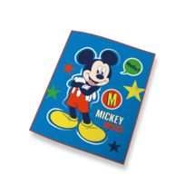 Mickey Mouse - Plaid bleu Mickey 100% polyester