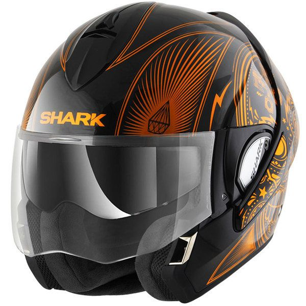 shark casque int gral modulable en jet evoline 3 mezcal kuo moto scooter noir orange pas. Black Bedroom Furniture Sets. Home Design Ideas