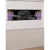 Creative - Bannière anniversaire Happy birthday to you 51 x 152 cm