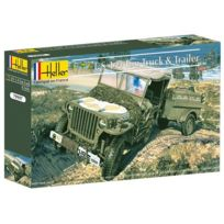 Heller - Maquette Us 1/4 Ton Truck & Trailer