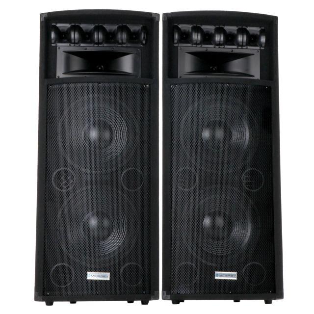 Mcgrey PowerDJ-212 Système de sonorisation passif, la paire 2 x 800W