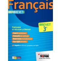 Bordas - Defibrevet ; français ; 3e édition 2016