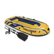 INTEX - Kit bateau gonflable 3 places CHALLENGER 3 + rames + gonfleur