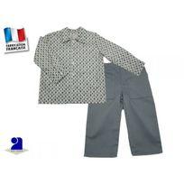 Poussin Bleu - Ensemble garçon 3 ans, pantalon gris et chemise Taille - 94 cm 36 mois, Couleur - Multicolore