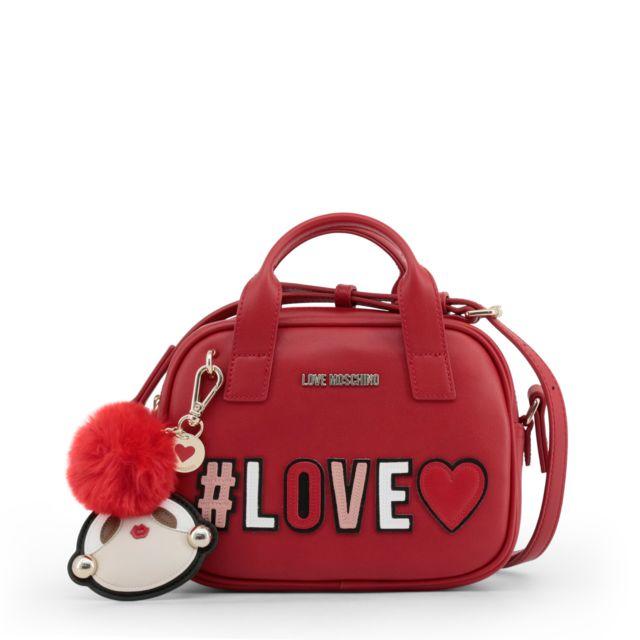 2314b64ece Buzzao - Sac à main rouge Love Moschino à bandoulière - pas cher ...