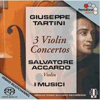 Pentatone - Giuseppe Tartini - Concertos pour violon D96, D117, D78