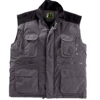 Hunting & Working - Gilet sans manches multi-poches - Gris