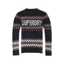 Superdry - Pull Chevron Knit Navy