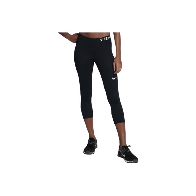 Nike - Pro Capri 3 4 889567-010 Noir - pas cher Achat   Vente Leggings 9cd8d0d74cf