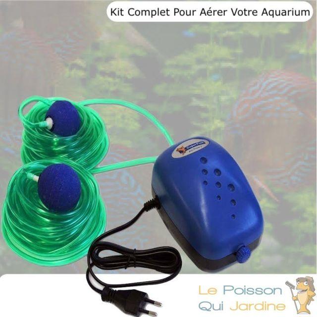 Le Poisson Qui Jardine Pack Air 250, Pour Aérer Votre Aquarium, Jusqu'à 250 L, Kit Complet