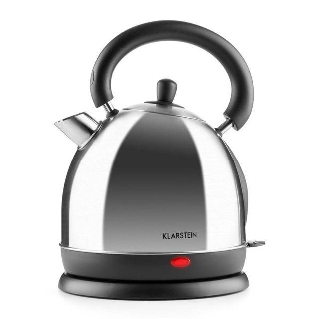 KLARSTEIN Teatime Bouilloire électrique sans fil 1,8l 1850-2200W - Inox argent