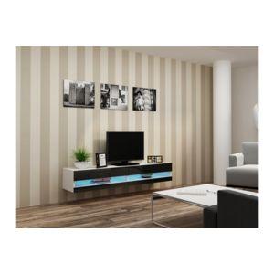 chloe design meuble tv design suspendu larmo new blanc et noir pas cher achat vente. Black Bedroom Furniture Sets. Home Design Ideas