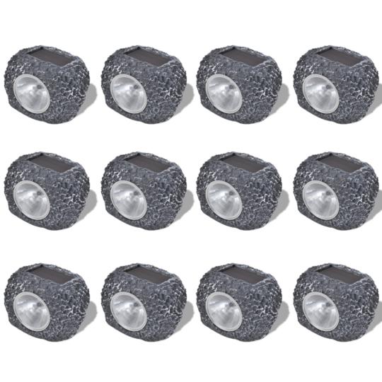 Rocambolesk - Superbe Spot Led solaire En forme de pierre 12 pièces neuf