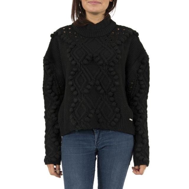 Guess - Pull hiver jeans w74r77 vanda noir - pas cher Achat   Vente Pulls  femme - RueDuCommerce ecec5c6f2bb