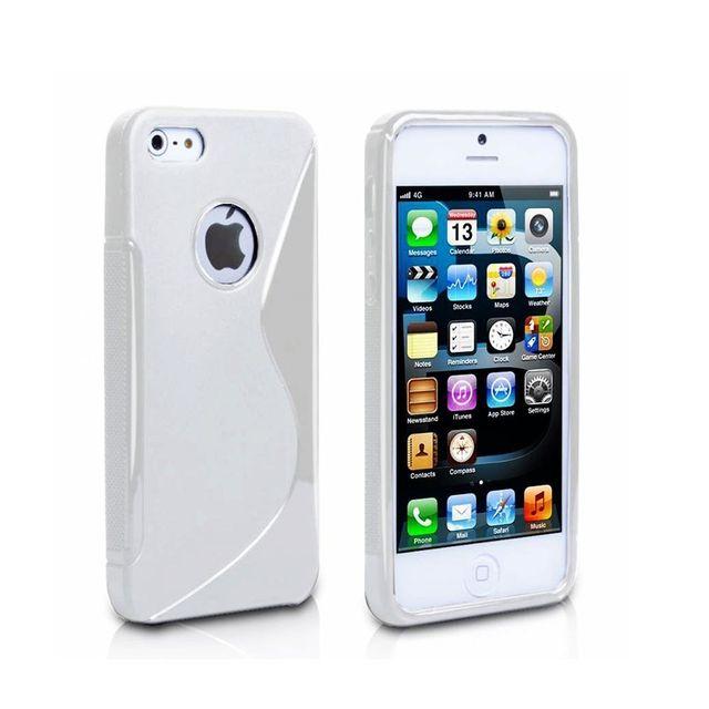 Lapinette - Coque Gel Vague S Pour Apple Iphone 5 - 5s - Rouge