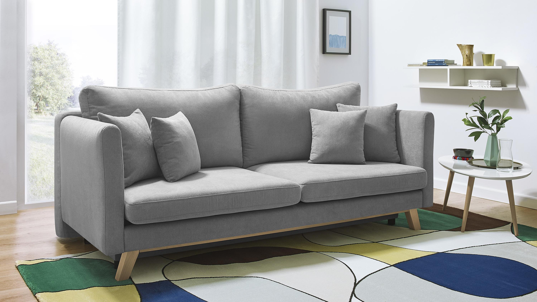 bobochic canap triplo 3 places convertible gris clair 105cm x 76cm x 216cm achat. Black Bedroom Furniture Sets. Home Design Ideas