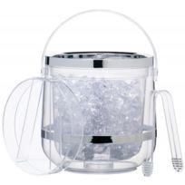 Kitchen Craft - Seau à glace double paroi en acrylique et pinces - Bar Craft