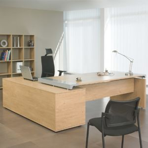 bureau professionnel angle droit avec console de rangement. Black Bedroom Furniture Sets. Home Design Ideas