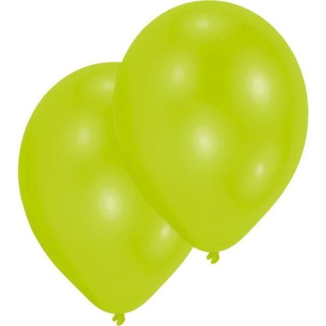 DECORATION DE FETE MURALE - DECORATION DE FETE A SUSPENDRE Lot de 10 Ballons en latex Premium 27,5 cm/11'' - Citron vert
