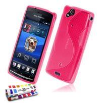 """Muzzano - Coque Souple Ultra-Slim """"Le S"""" Premium Rose pour Sony Xperia Arc"""