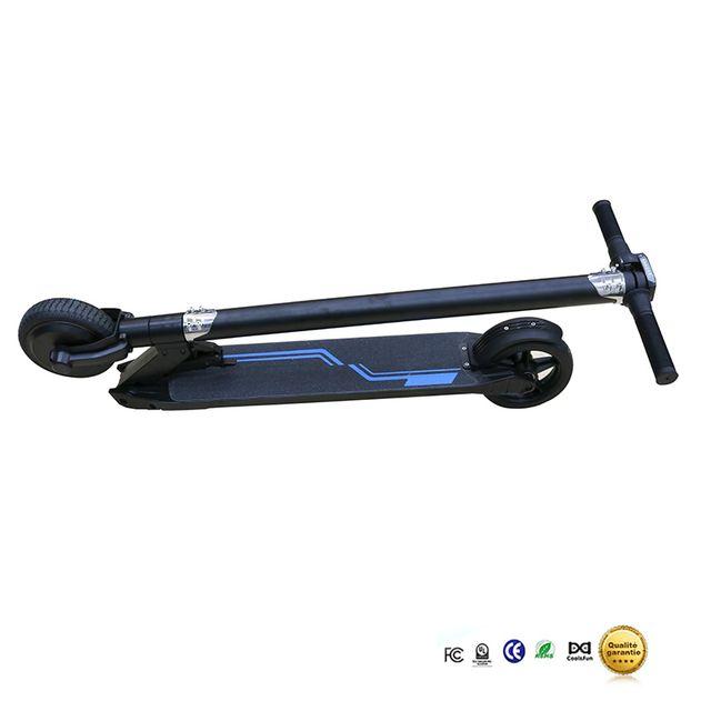 COOL AND FUN - Trottinette électrique, mini scooter électrique, smart scooter Noir