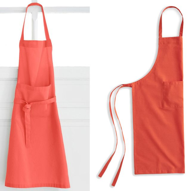Lefebvre Textile Tablier en coton Orange pour adulte