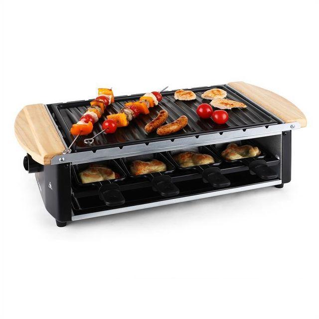 KLARSTEIN Grill raclette avec plaque et broches 8 personnes